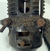 Antique 1920andrsquos Cast Iron Feather Christmas Tree Stand Victorian North Bros. Nice