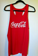 Womens Badger Sport Coca Cola Racerback Tank Top Size Xl Red White Run Athletic