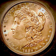 1889-s Morgan Dollargem Unckey Date-rare This Nice-only 700000 Minted-low Pop