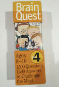 Brain Quest 4th Grade Ages 9-10 Deck 1 And 2 In Case Excellent Condition