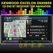 Kenwood Excelon Dnx995s Bt Cd Dvd Navigation Apple Car Play Android Auto Hd 720p