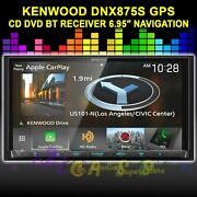 Kenwood Dnx875s Cd Dvd Navigation Gps Bt Apple Car Play Android Auto 6.95 Touch