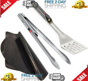 Grillight Grilling Essential Combo Gift Set Led Light Spatula, Tongs And Bonus Gr