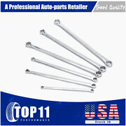 Double Box End Wrench 6pc Metric Extra Long Aviation Spanner Universal 8-21mm
