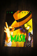 The Mask Jim Carrey 24 X 32 French Moyenne Movie Poster Original 1994 Used