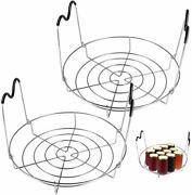 12inch 2 Pack Canning Rackstainless Steel Steamer Canning Jar Rack With Silicon