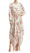 Gorgeous Zimmerman Corsage Orchid Pleated Maxi Dress Size 1 / Small Nwt 1600