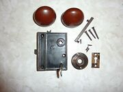Victorian Lock With All Parts Knobs, Key, Plates, Hardware