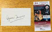 Raymond Massey Signed Autographed 3x5 Card Jsa Certified Dr. Kildare