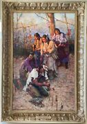 Howard Terpning Offerings To The Little People - Rare Framed Le Canvas S/n/coa