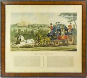 Framed Antique 1830s Charles Hunt Colored Etching Andldquothe Birth Day Teamandrdquo - Sj05