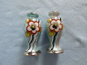 Vintage Japan Painted Flower Salt And Pepper Shakers Fast Shipping