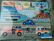 New Melissa And Doug Sound Wooden Puzzle Move Vehicles Nwt Boat Car Train