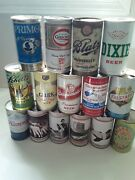 Vintage Beer Can Lot Of 15 Blatz, Dixie, Gibbons Burgernister, Hamms, Schell's