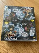 Rare Vintage Yugioh 5ds Dog Tags Display Box 12 Packs Collector Foil Stickers