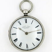 Antique Pocket Watch - Silver Cased Slow Beat Lever By Thomas Yates, 1867