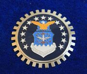Blue Usaf United States Air Force Grille Badge Bumper License Topper Accessory