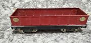 1930's Lionel 212 Maroon Gondola Car With Brass Trimmed