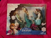 Disney Frozen Anna And Elsaand039s Musical Bicycle Playset Olaf Mattel New 2014 New Htf