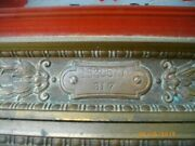 Antique National Cash Register Ncr Brass Antique, With 5 Keys. Works Perfectly.