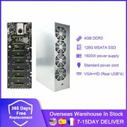 A Set Miner Case Btc-d37 Chassis With 4 Fans Motherboard 8 Slots 4gb Ddr 128gb