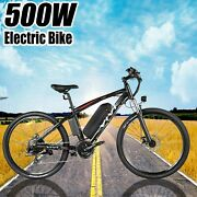 500w-27.5and039and039 Electric Mountain Bicycle Bike Ebike+removeable=li-battery-21speed=