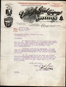 1912 Chicago Dime Bank - Coin Operated Machines Victor M Gral Rare Letter Head