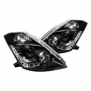 Spyder For Nissan 350z 2003-2005 Projector Headlights Xenon Drl Black High H1 Lw