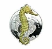 2020 Solomon Islands Pamp Suisse 2 Giants Of The Galapagos Seahorse 1 Oz Silver