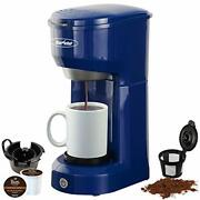 Single Serve Coffee Maker Brewer For Single Cup, K-cup Coffee Maker With Blue