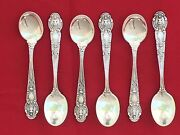 And Co. Sterling Demitasse Spoons 4 1/8 Set Of 6 Renaissance Pattern 1905