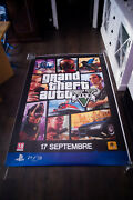 Gta 5 Ps3 4x6 Ft Bus Shelter Advertise Poster Original