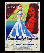 Tonight And Every Night 4x6 Ft French Grande Original Movie Poster 1945