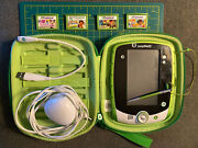 Leapfrog Leappad 2 Tablet W/ 4-games, Stylus, Case, Charger, Usb Tested/works