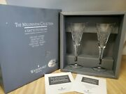 Waterford Crystal 2000 Millennium Collection Toasting Flutes Happiness