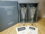 Waterford Crystal 2000 Millennium Collection Toasting Flutes Love