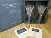 Waterford Crystal 2000 Millennium Collection Toasting Flutes Health