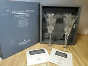 Waterford Crystal 2000 Millennium Collection Toasting Flutes Peace