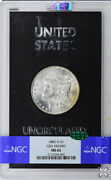 1885-o Morgan Dollar Gsa Hoard S1 Ngc And Cac Ms62 Black Pack With Nice Color