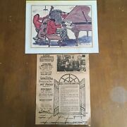 George Luttrell 1977 New Orleans Jazz Print Signed 13 X 10 Saints Go Marching In