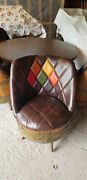 Vintage Whiskey Barrel Furniture. 4 Chairs 1 Table Beautiful