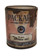 1940and039s Packard Automotive Mackinaw Gray Paint 1 Quart Unopened Adv Can