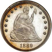 1889-p Liberty Seated Quarter Ngc Proof 65 Cam Cac - Great Look Coin - Rizx
