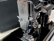 Vintage 1937 Ae 542074 Singer Featherweight 221 W/ Case Foot Pedal And Accessories