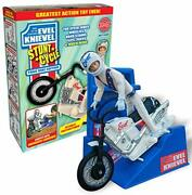 Evel Knievel Stunt Cycle - The Amazing Wind Up And Go Action Toy Launcher