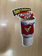 Taco Bell Vintage 1998 Chihuahua Dog Cruiser Cup Sign Sticker Never Used Rare
