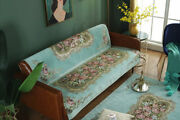 American Style Chenille Vintage Sofa Couch Slipcover 2/3 Seater Jacquard Flower