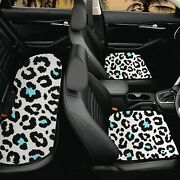 Animals Grain Car Seat Cushion Cover Set Cow Print Front Rear Seat Protector