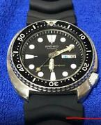 Seiko 6306-7001 Vintage Overhaul 3rd Diver Stainless Steel Automatic Mens Watch
