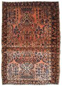 Handmade Antique Oriental Rug 3.6and039 X 5.4and039 109cm X 164cm 1920s - 1b747
